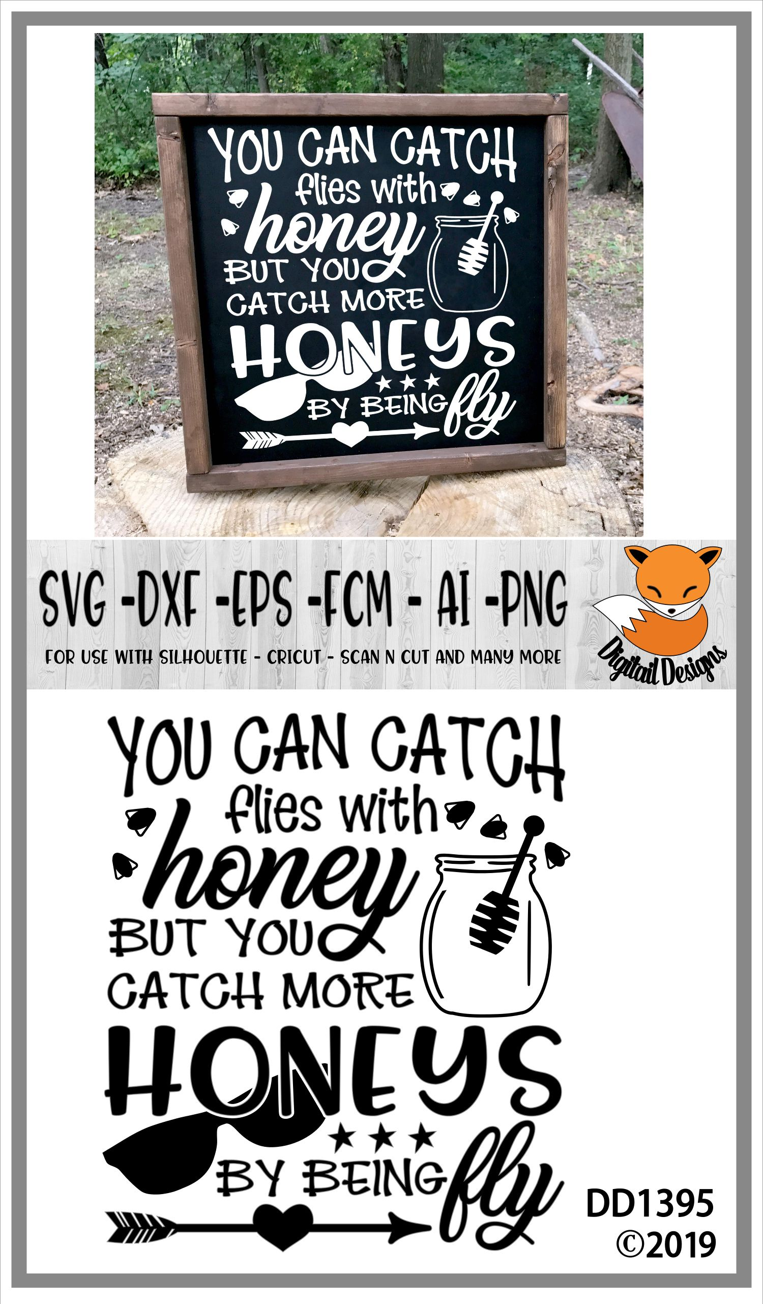Catch Flies With Honey Boys SVG example image 2