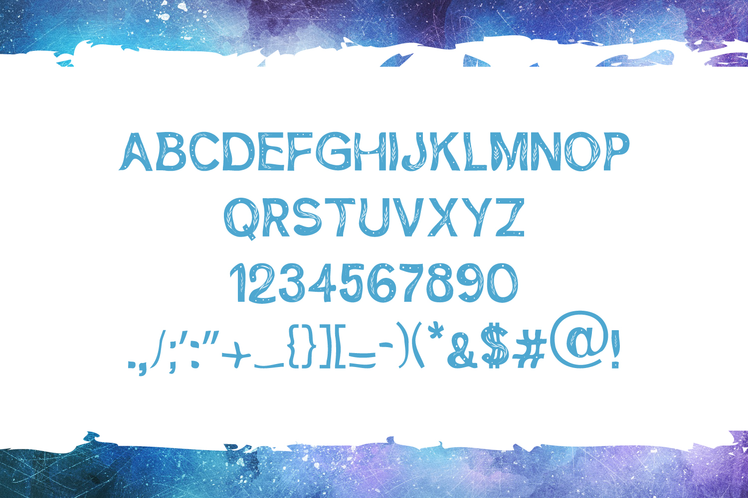 Feuilles Font example image 5