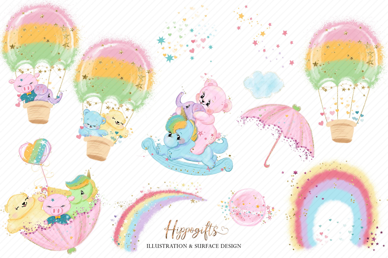 Bears and unicorns clip art example image 5