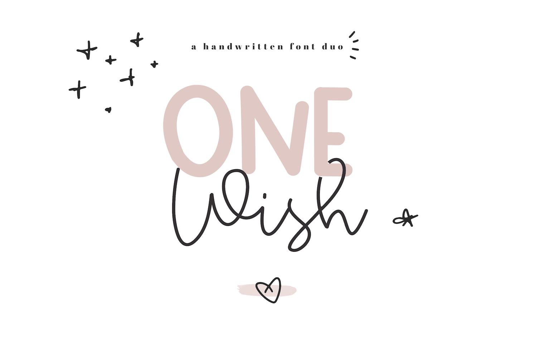 One Wish - Handwritten Script & Print Font Duo example image 1