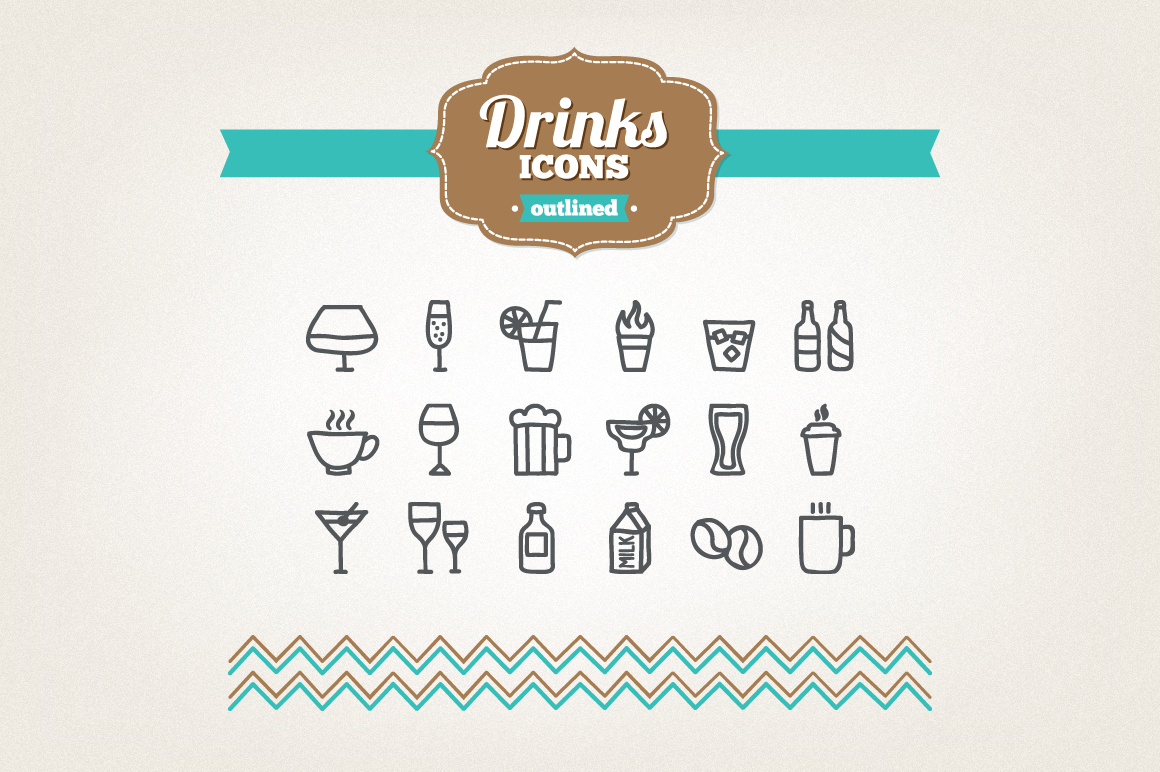 Hand Drawn Drinks Icons example image 1