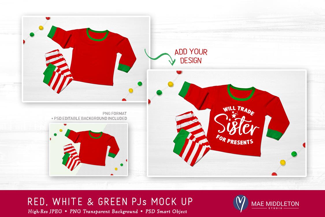 Christmas mock up - Holiday Pajamas example image 2