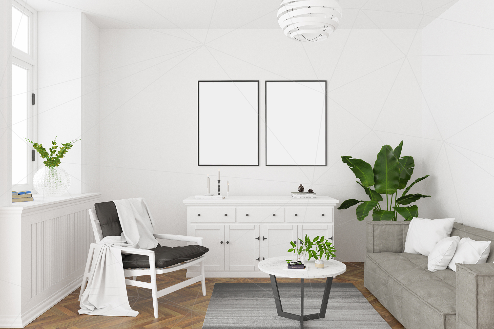 Interior mockup - artwork background example image 2