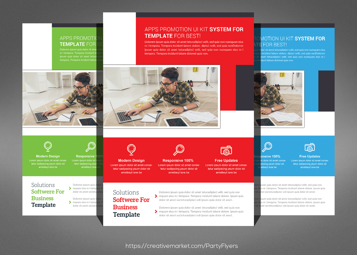 Clean Corporate Business Flyer Bundle example image 2