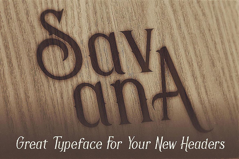 Savana - Display Font example image 3