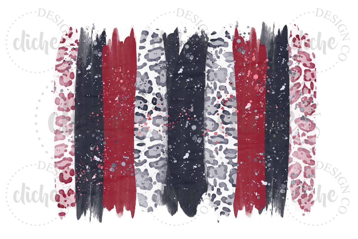 Red Black Paint Stroke Sublimation Design Background example image 1