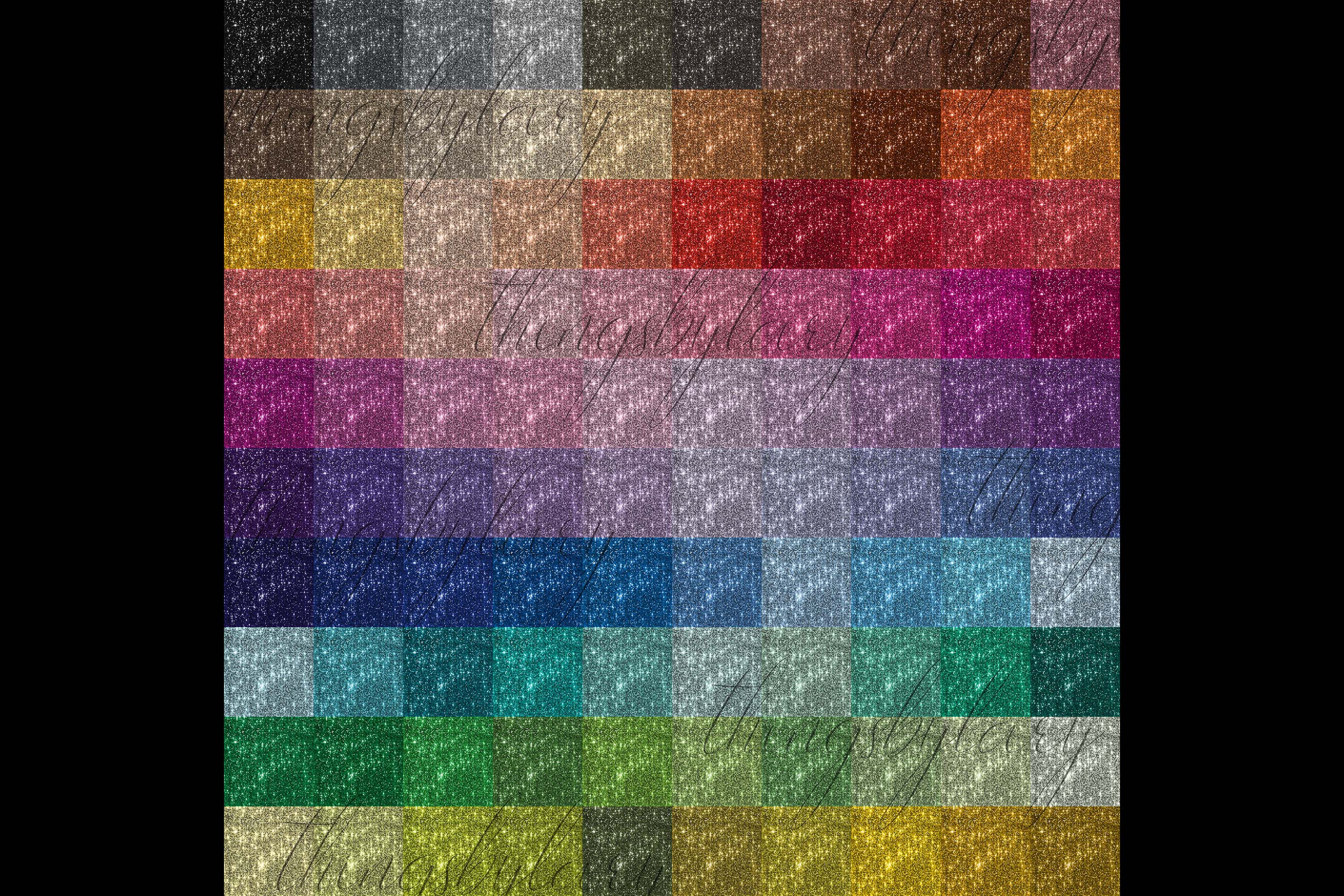 100 Seamless Glowing Bling Bling Disco Sequin Digital Papers example image 9
