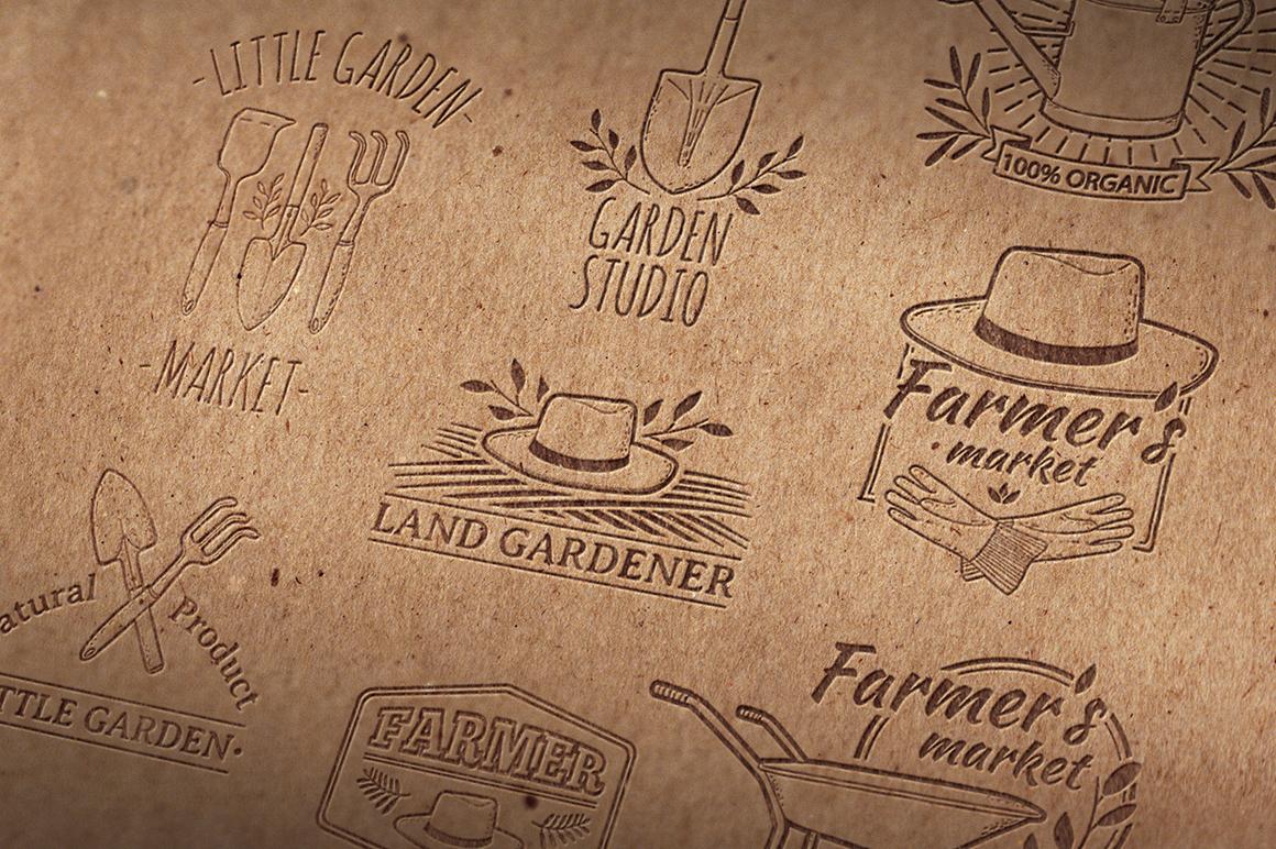 Garden/Farm icon and logo set example image 2