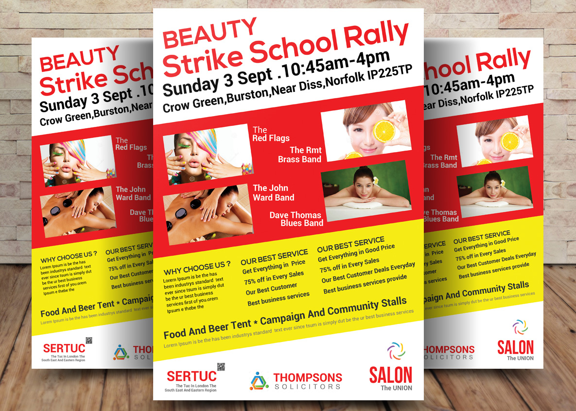 Beuty Bundle Flyer 4in1 example image 2