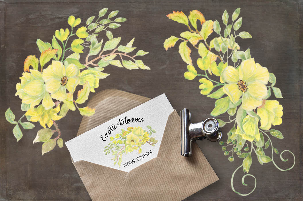 Exotic watercolor flowers: 5 sprays example image 3