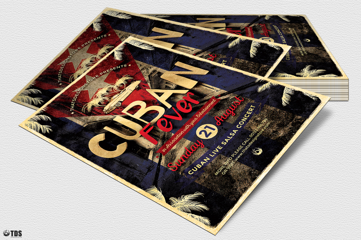 Cuban Fever Flyer Template example image 4