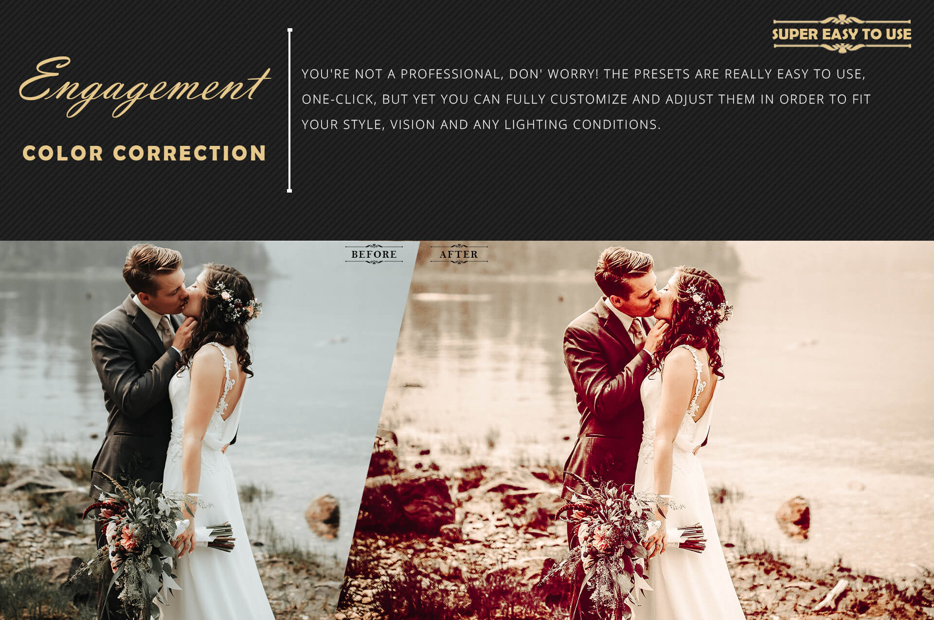 Engagement color grading lightroom presets theme example image 5