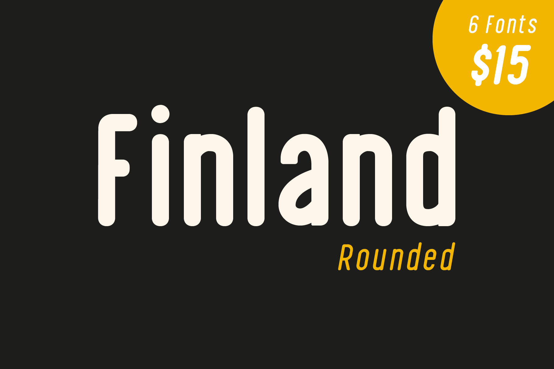 Finland Rounded - Font Family example image 1