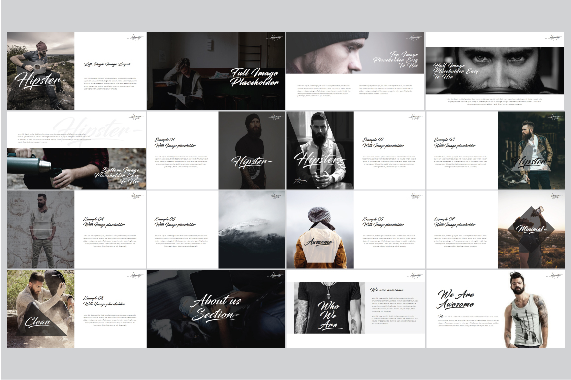 Hipster v.2 Powerpoint Template example image 3