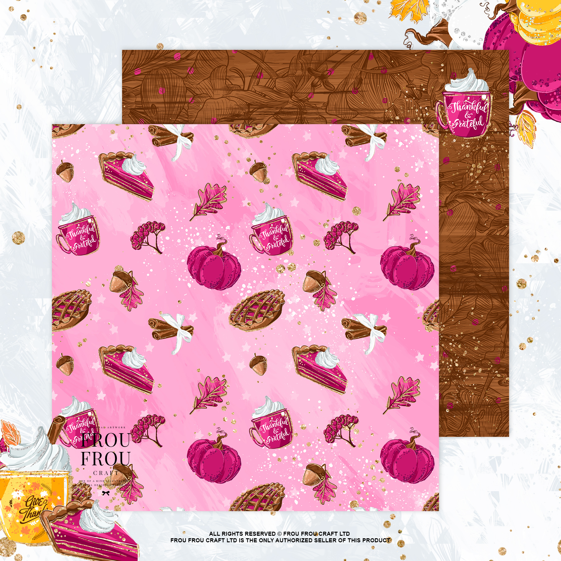 Sweets Cake Pumpkin Pie Fall Autumn Paper Pack example image 8