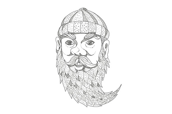 Paul Bunyan Lumberjack Doodle Art example image 1