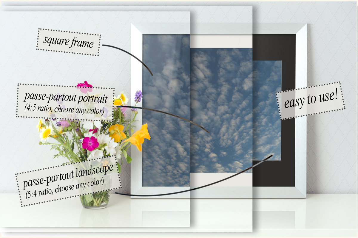 Frame mockup - clean bright interior summer field flowers example image 2