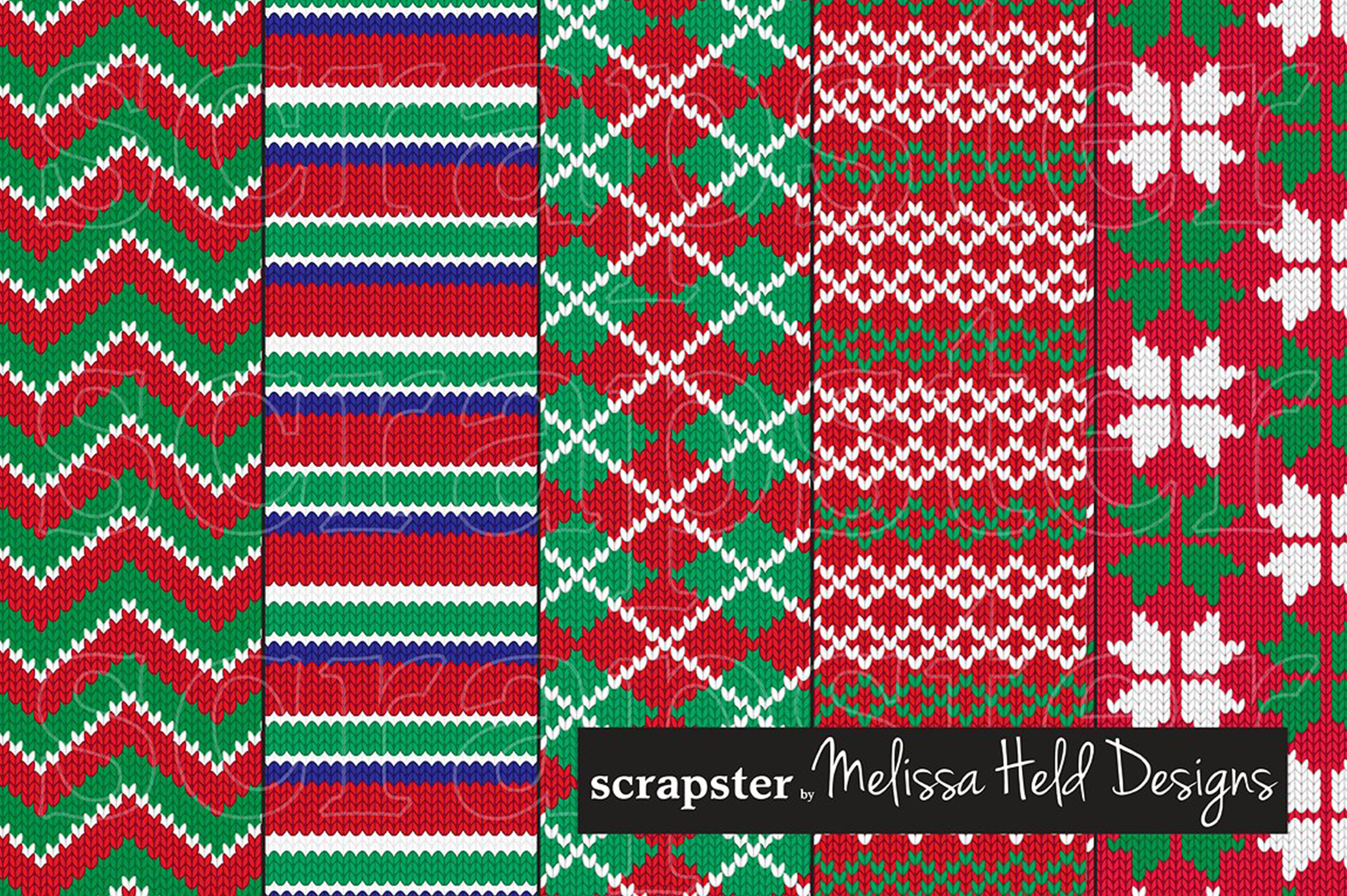 Nordic Knit Christmas Patterns example image 2