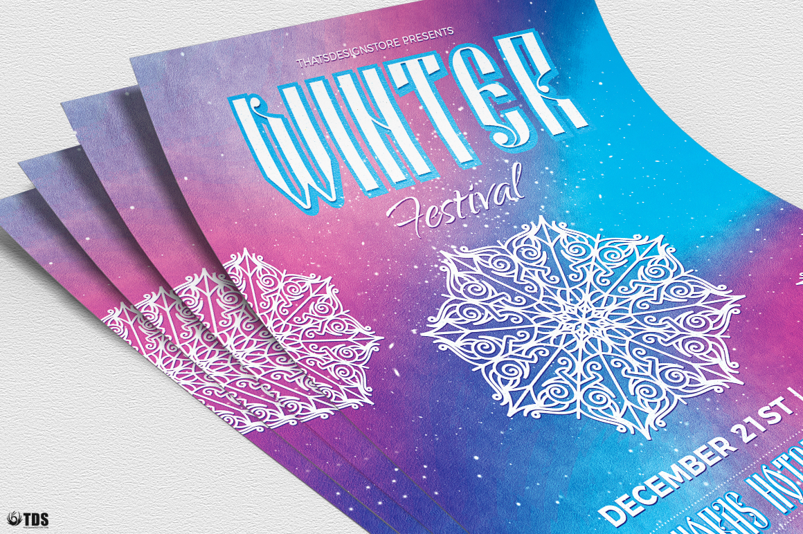 Winter Festival Flyer Template V1 example image 5