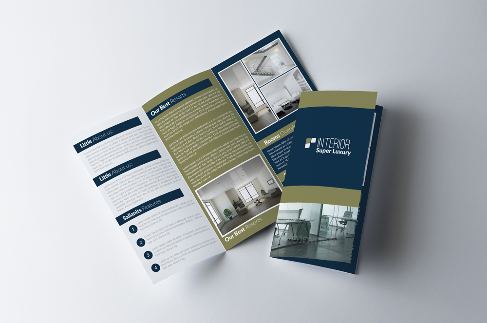 Real Estate Business Trifold Brochure example image 1