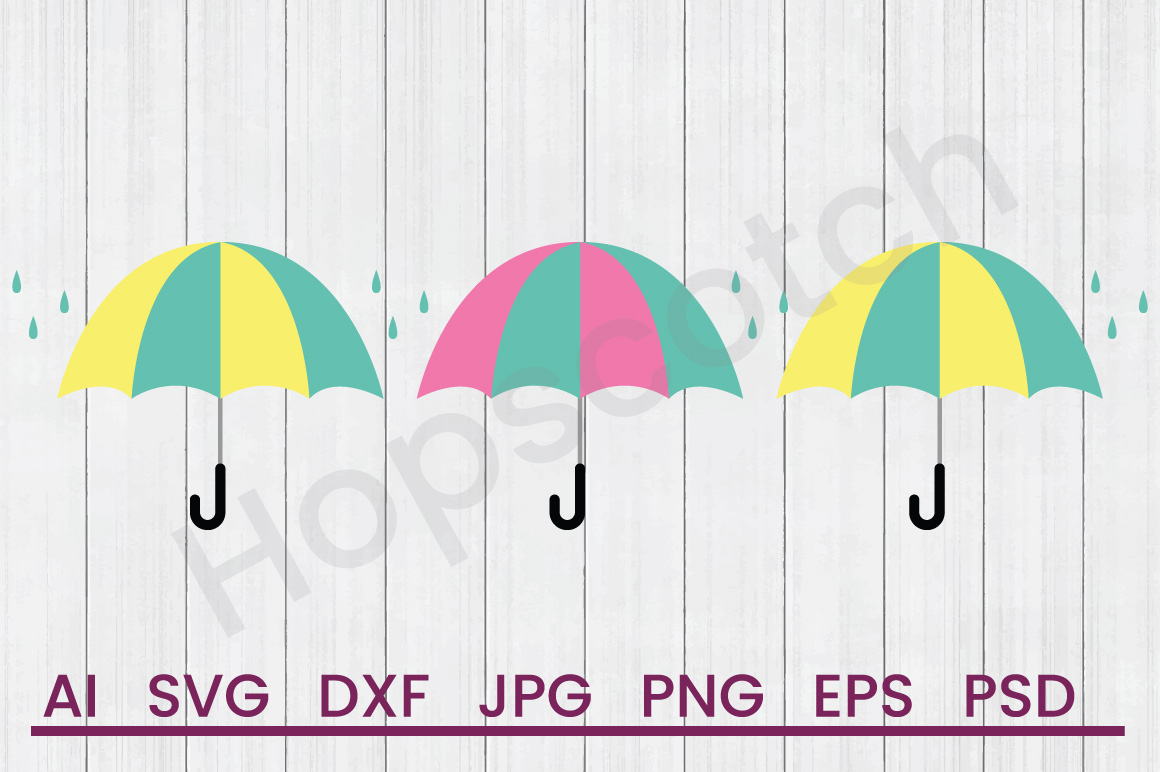 Umbrella SVG, DXF File, Cuttatable File example image 1