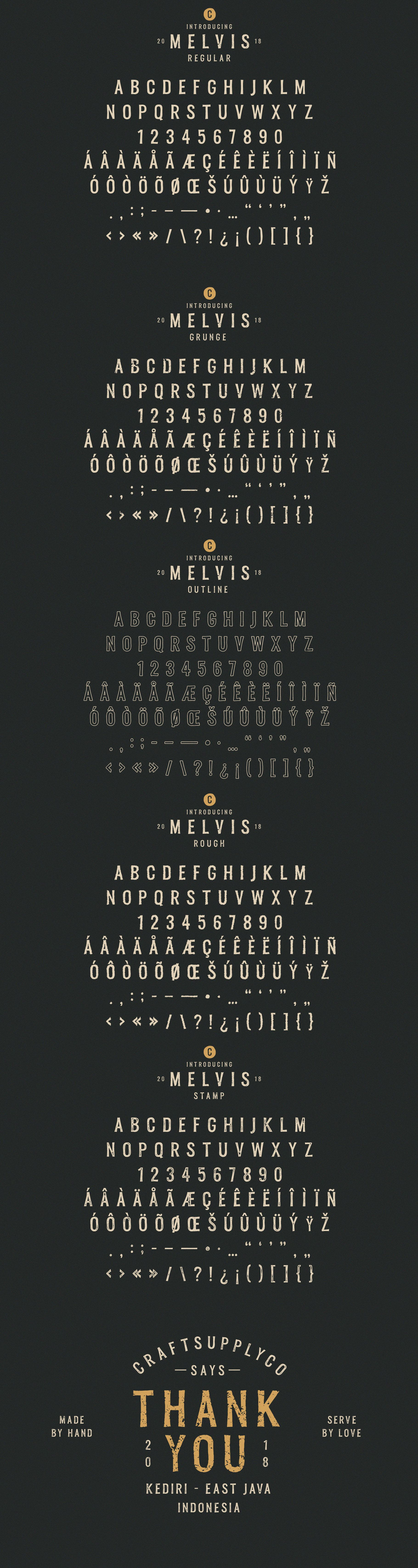 Melvis - Vintage Font Family Extras example image 9