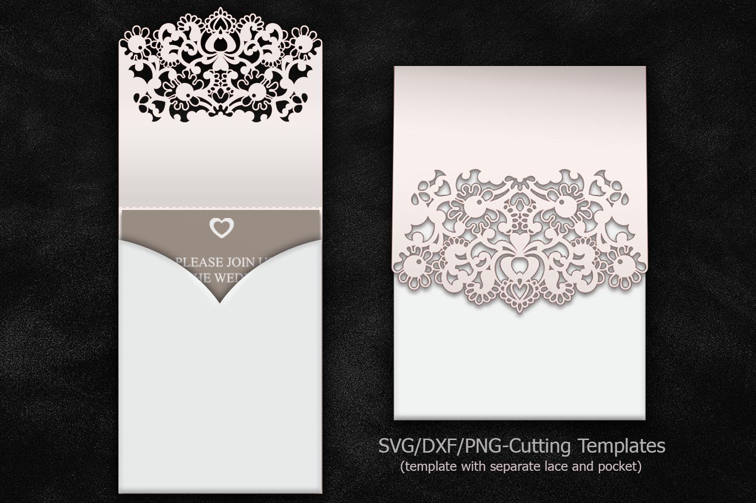 cricut laser cut wedding invitation pocket invitation sample