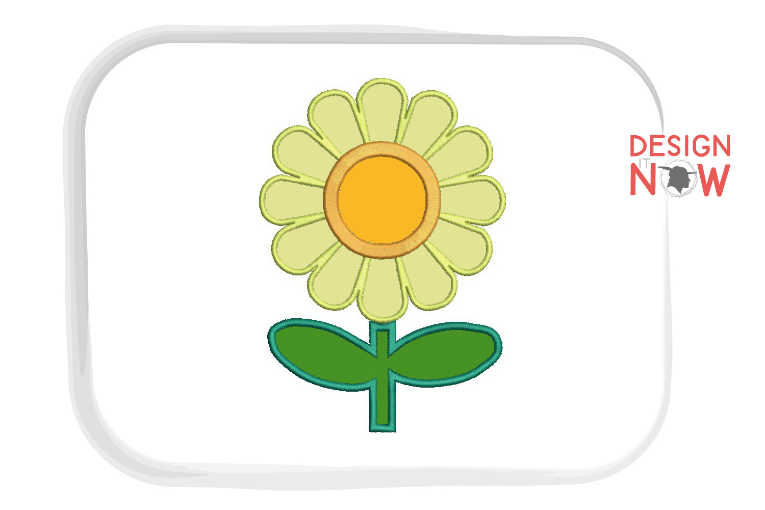 Flower Applique Embroidery Design, Flowers Embroidery example image 2