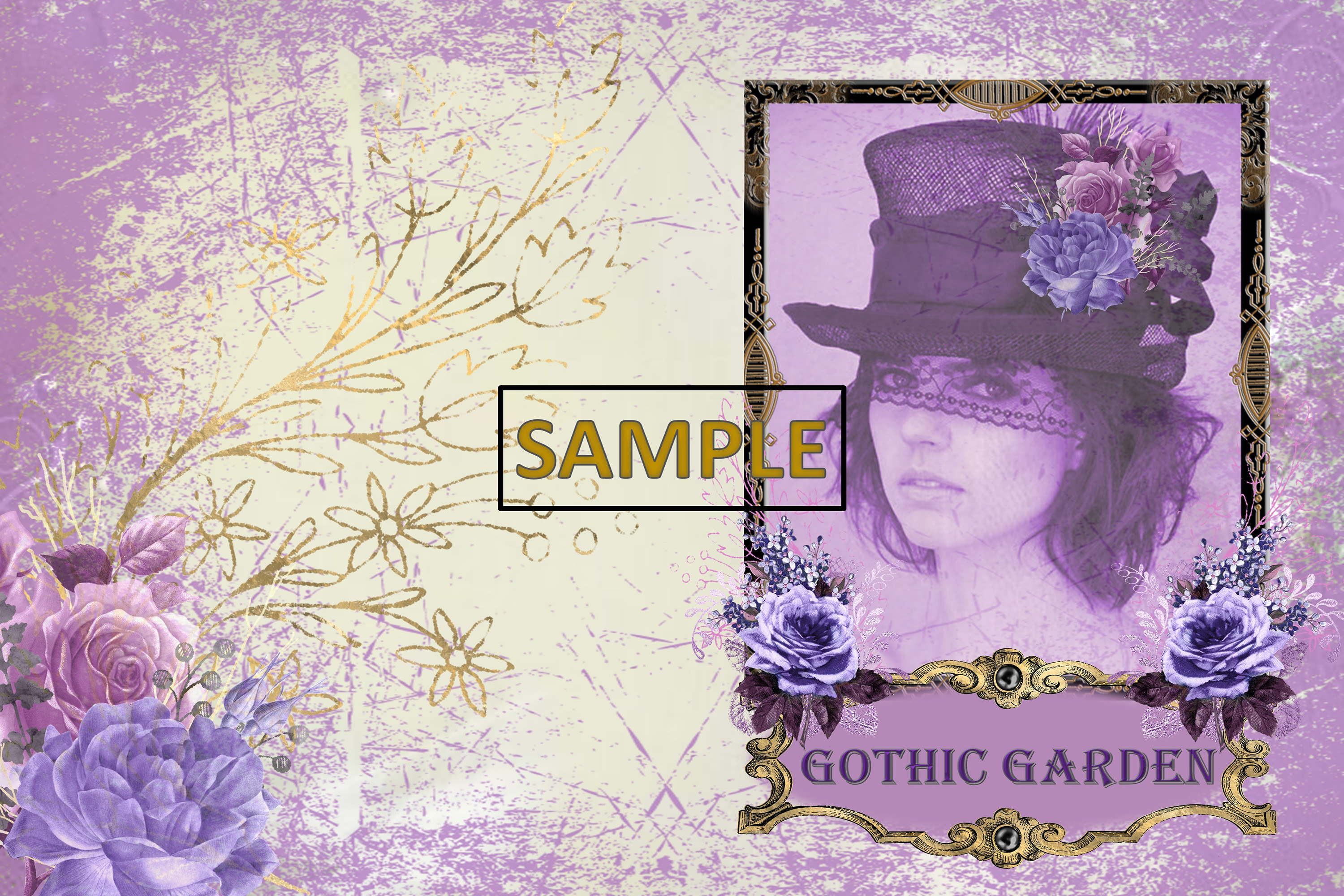 Gothic Garden Backgrounds A4 Letter Size JPEG & PDF example image 8
