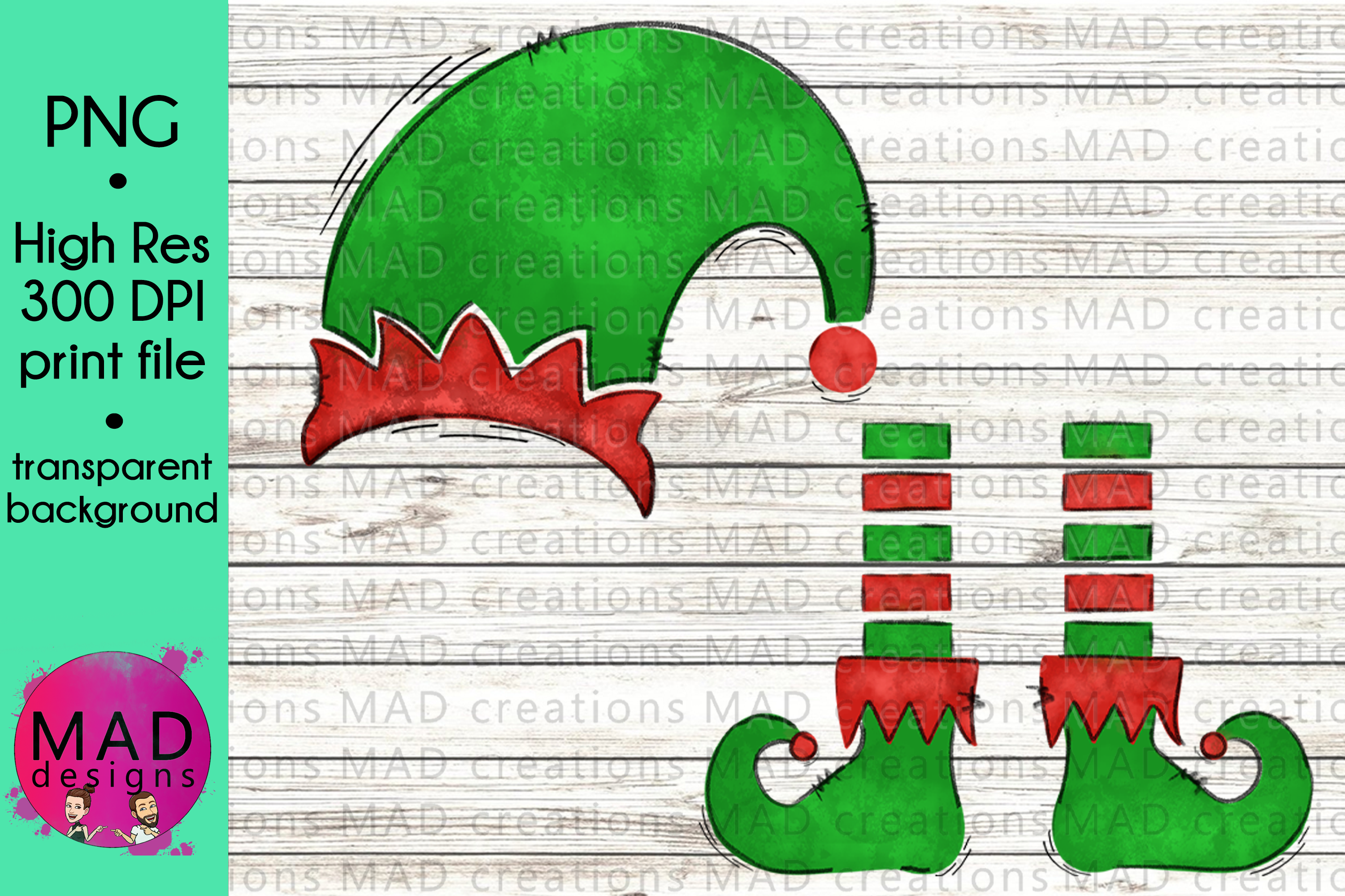 Christmas Elf - Add Your Own Text Template example image 1