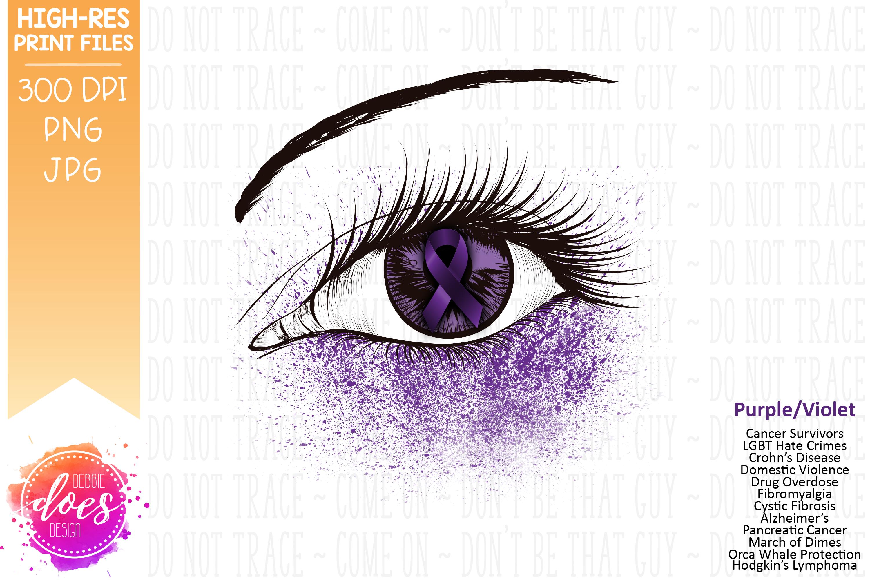 Purple Awareness Ribbon Eye Printable Design example image 2