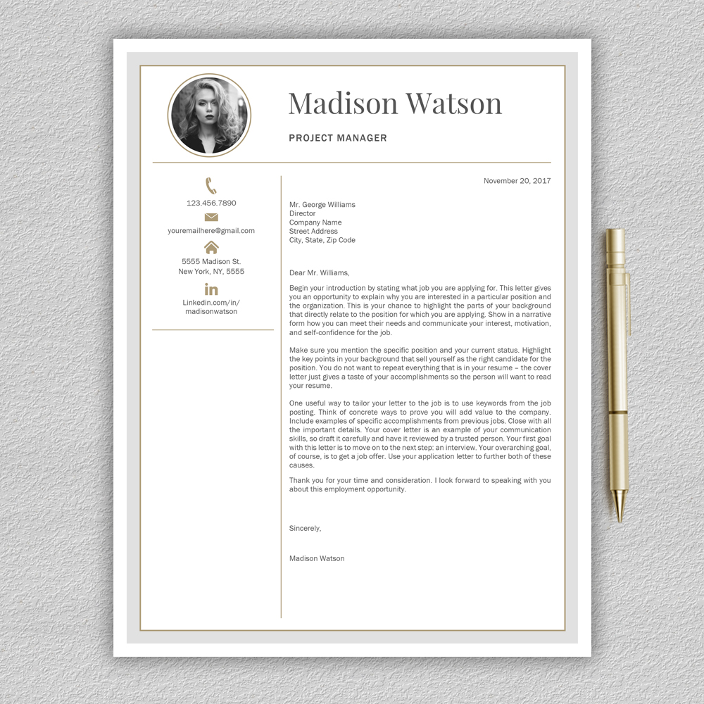Professional Resume Template / CV Template / Resume for Word with Cover Letter example image 5