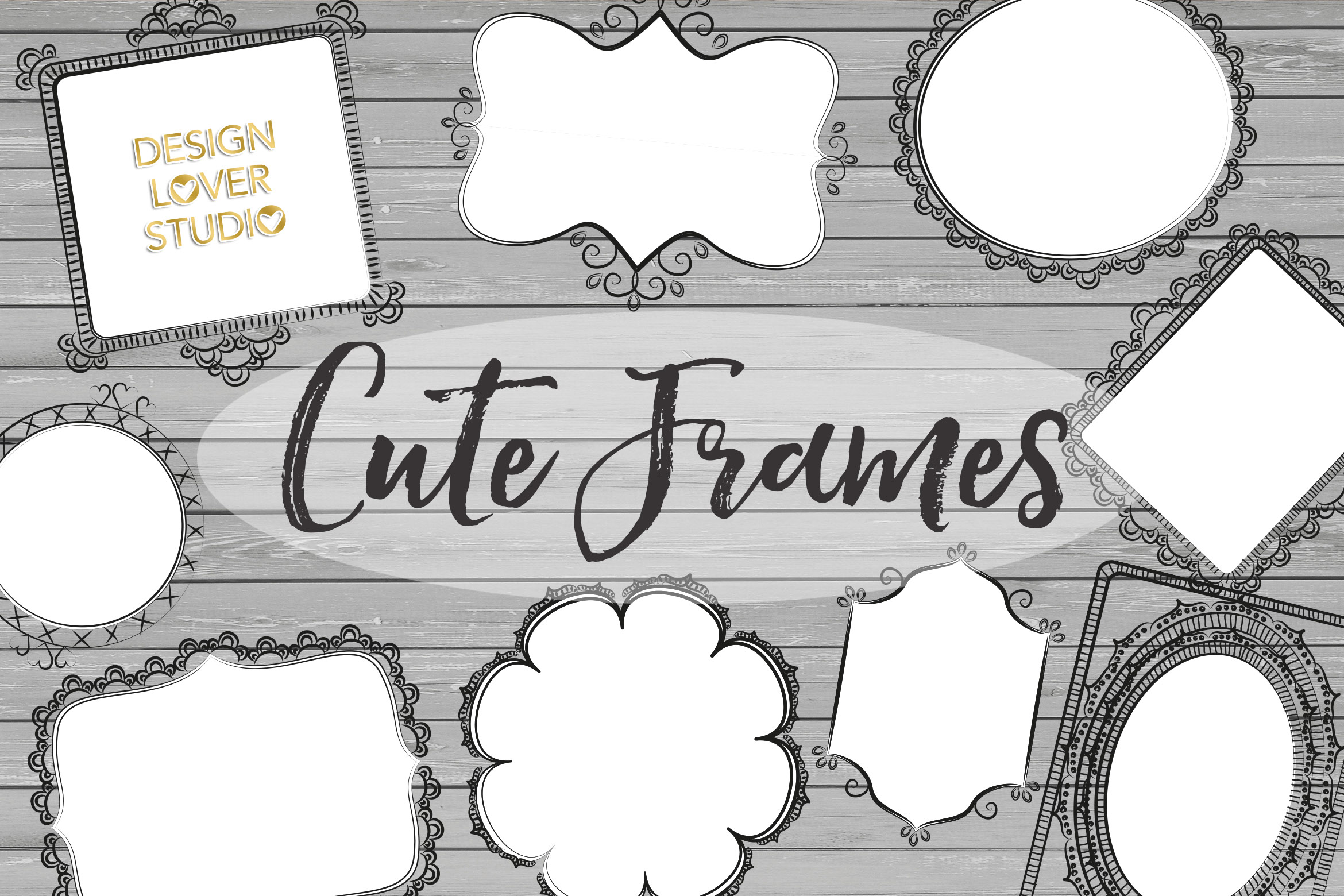 Vector Rustic Cute Frames example image 1