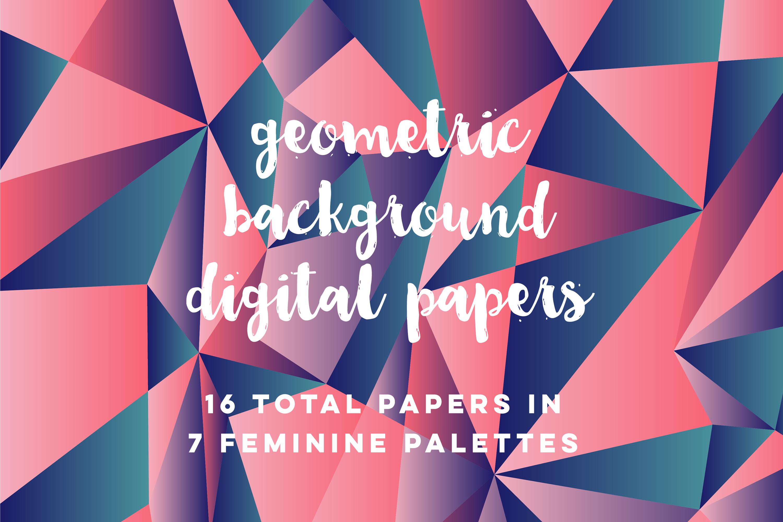 Feminine Geometric Backgrounds example image 1