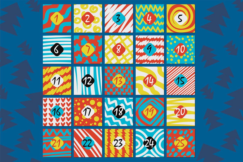 Stylish Advent Calendar Template example image 3