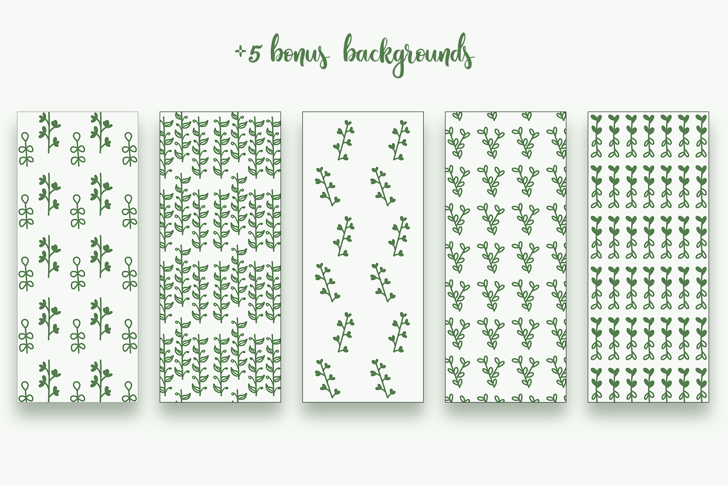 Hand Drawn Floral Elements & Backgrounds example image 4