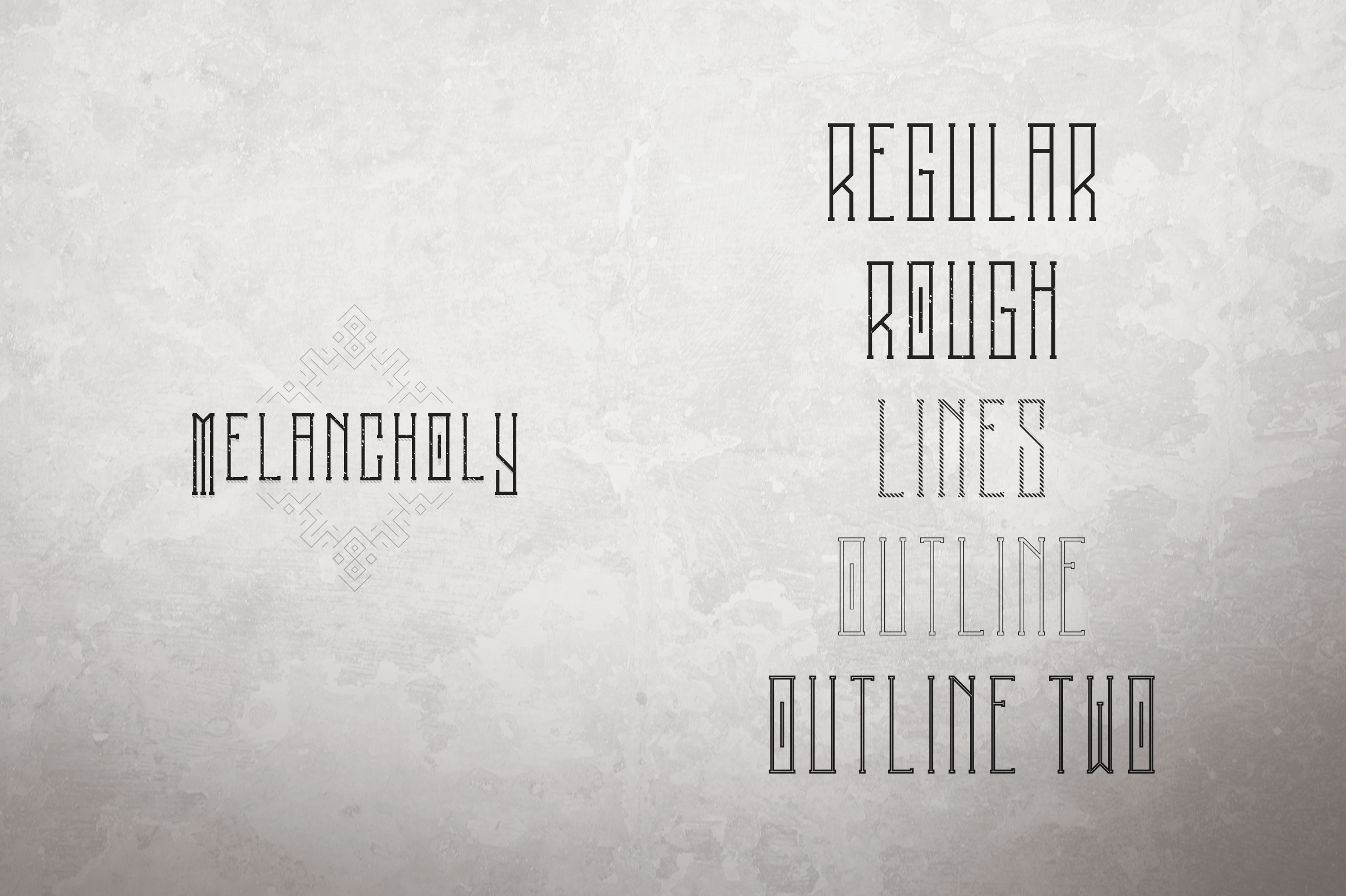 Melancholy Display Typeface Extra example image 2