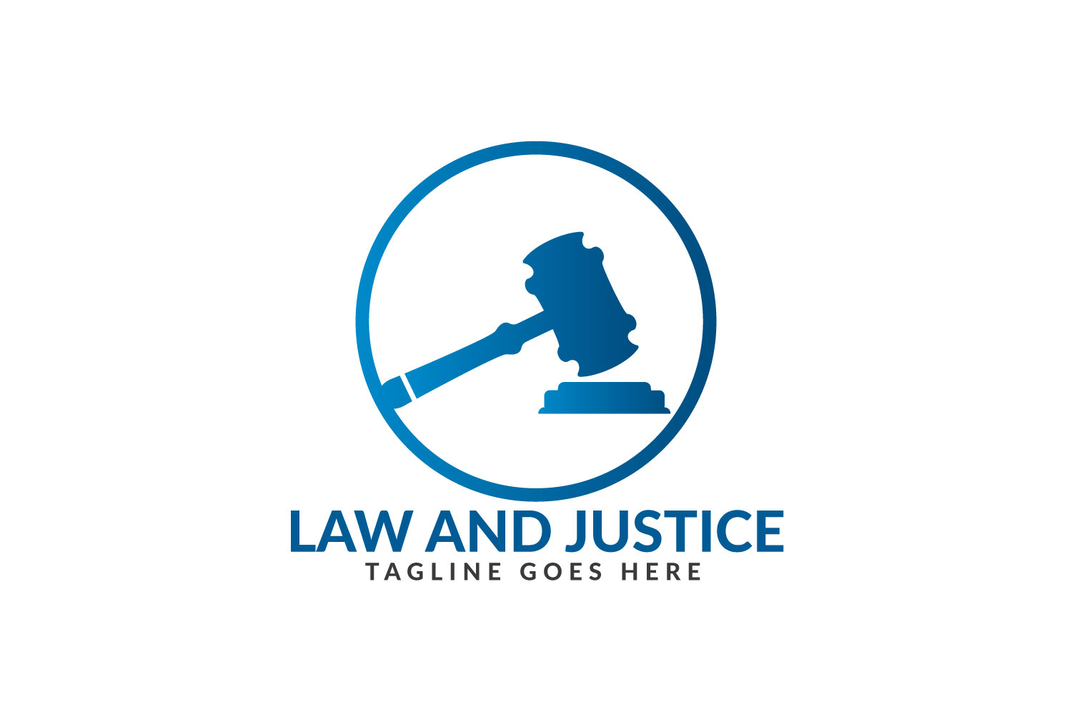 Law and Justice Logo Design. example image 1