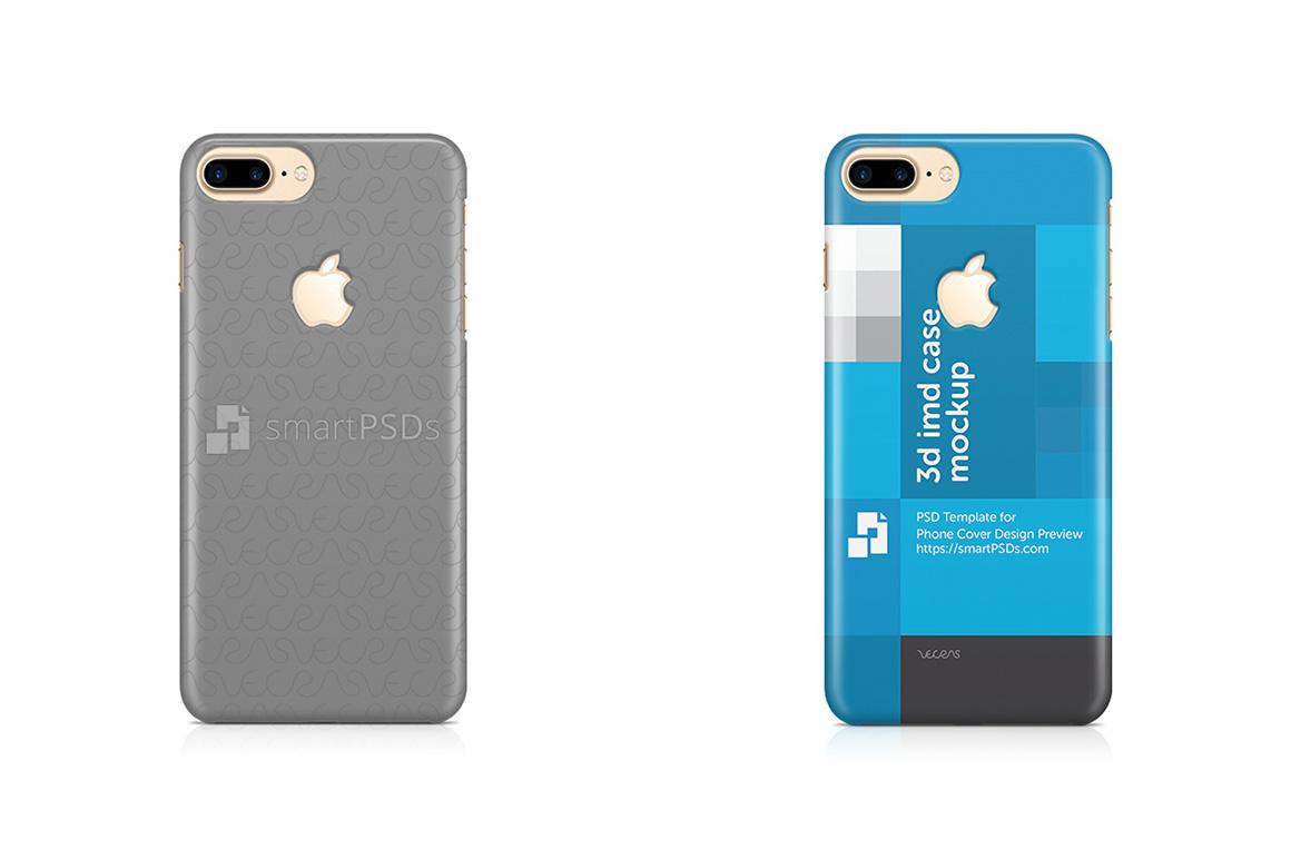 Apple iPhone 7 Plus Logo Cut 3d IMD Mobile Case Design Mockup 2016 example image 1