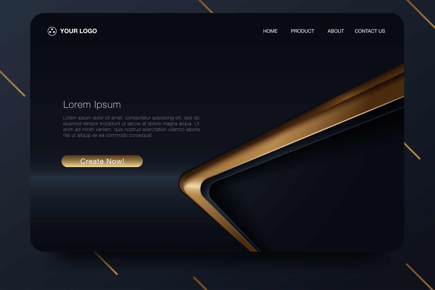 20 - Abstract background design. Landing page template example image 3