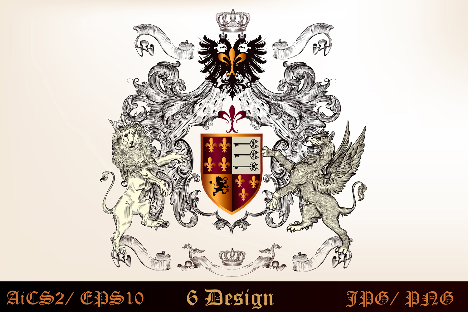 Heraldic bundle of detailed of shields  example image 6