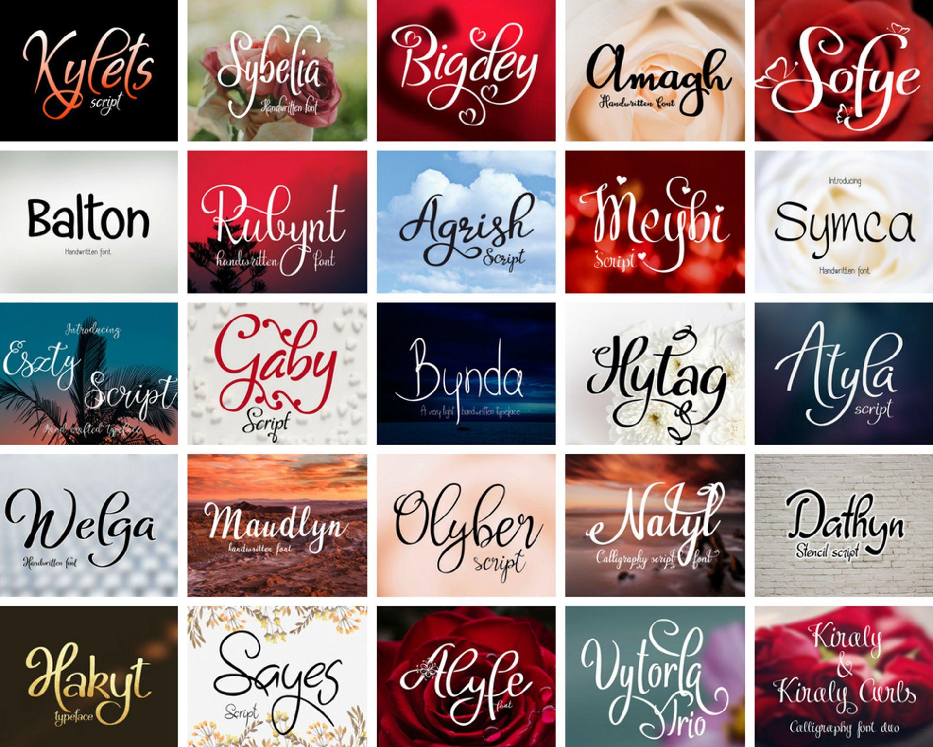Handwritten font bundle example image 7