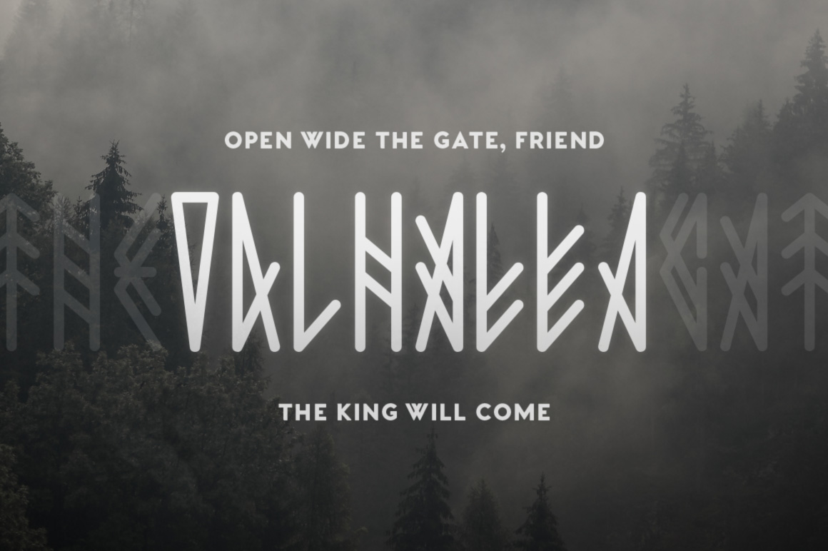 Jotunheim Typeface example image 2