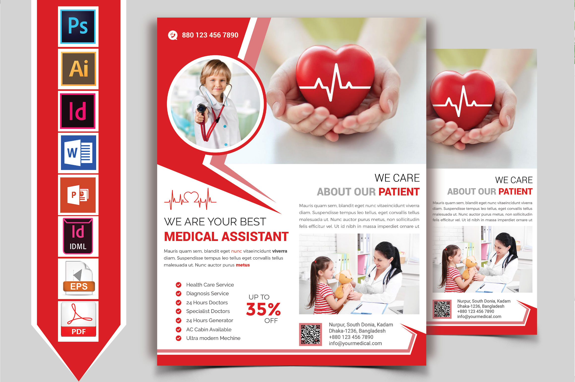 Doctor & Medical Flyer. Vol-09 example image 2