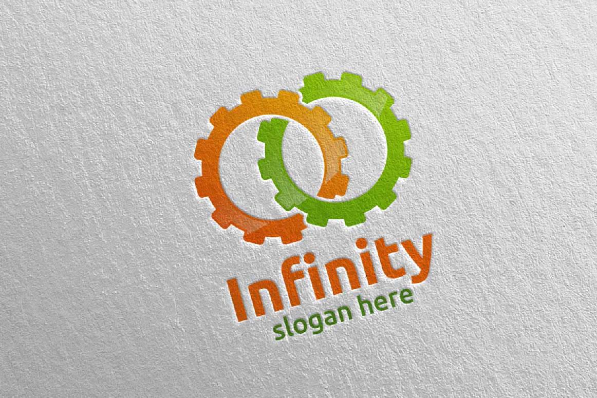 Infinity loop logo Design 8 example image 1