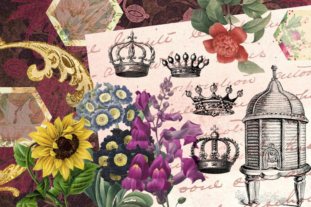 Queen BeeDigital Scrapbooking Kit example image 2