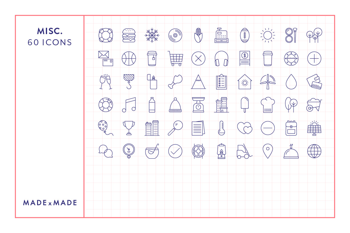 Line Icons - Miscellaneous Icons example image 3
