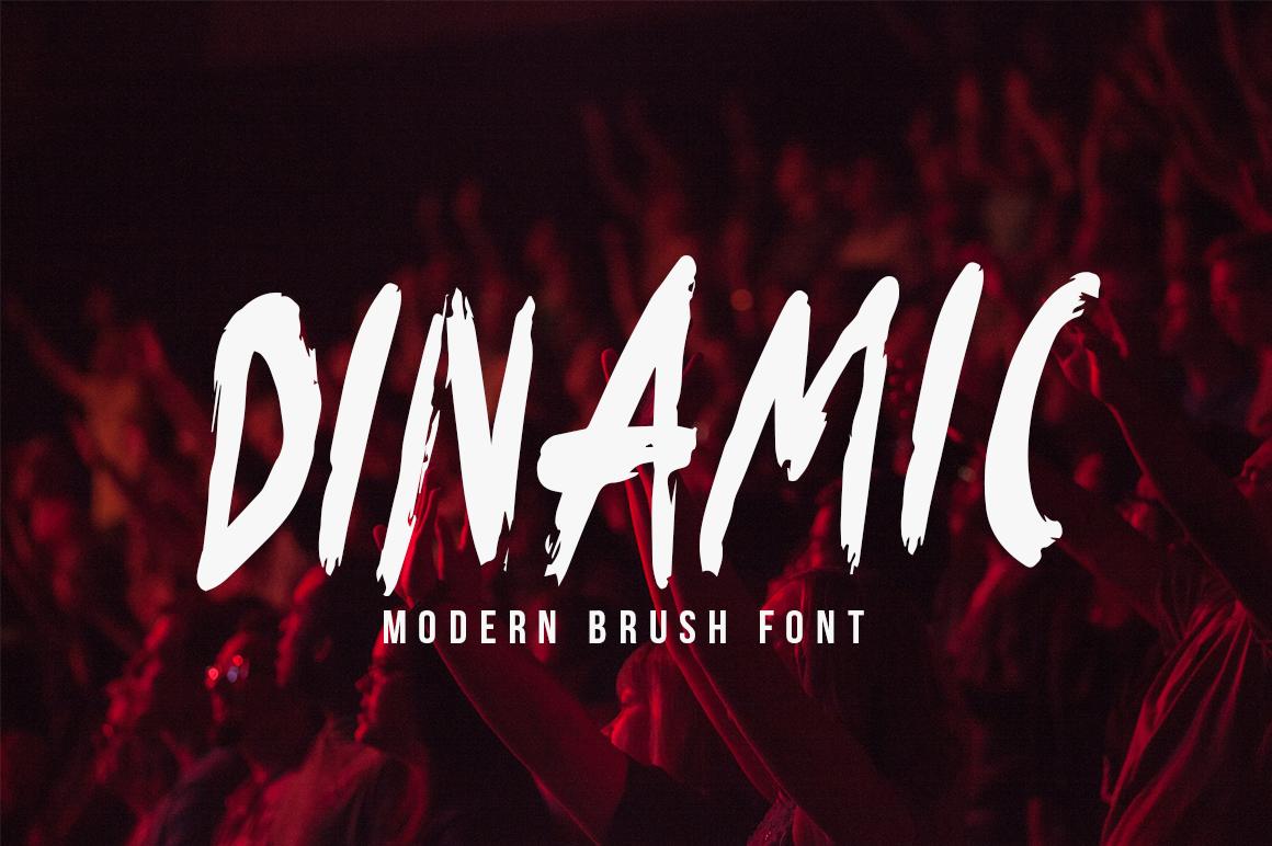 Dinamic Brush Font example image 1