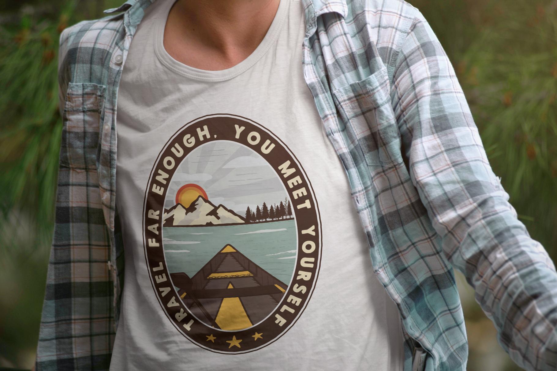 Vintage Travel Logo / Retro Mountain Badge example image 3
