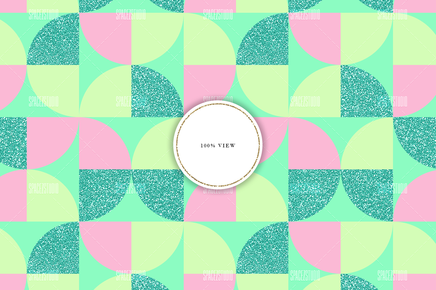 Cute Pastel Colors Tileable Geomteric Digital Paper example image 5